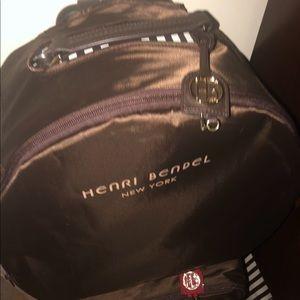 Henri Bendel Centennial Stripe Hatbox Wheelie nwt